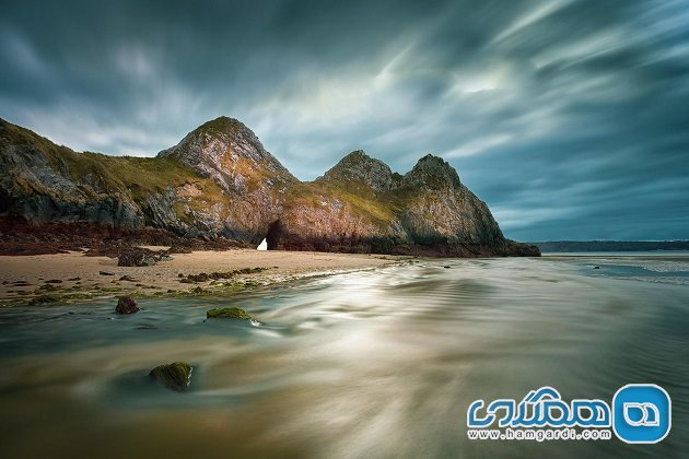 خلیج تری کلیفز Three Cliffs Bay